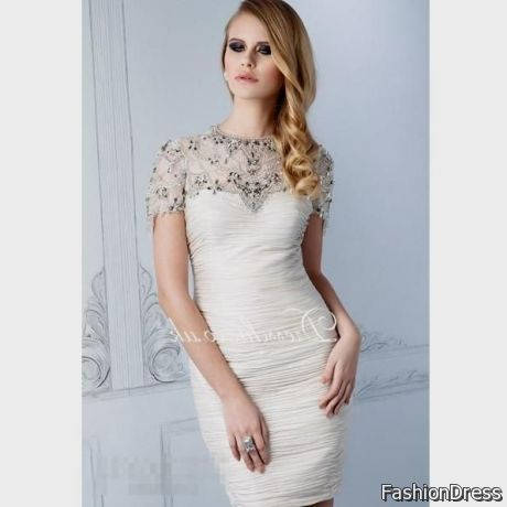 white sundress with sleeves 2017-2018 » DreamyDress