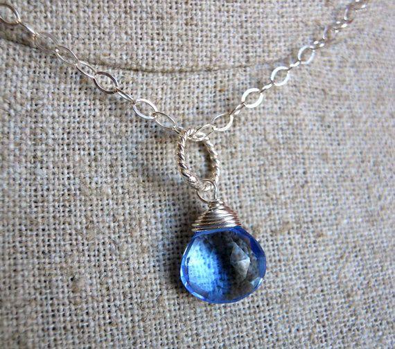 Periwinkle Necklace, Tanzanite necklace, Laguna Beach Drop Necklace on Etsy, $48.00