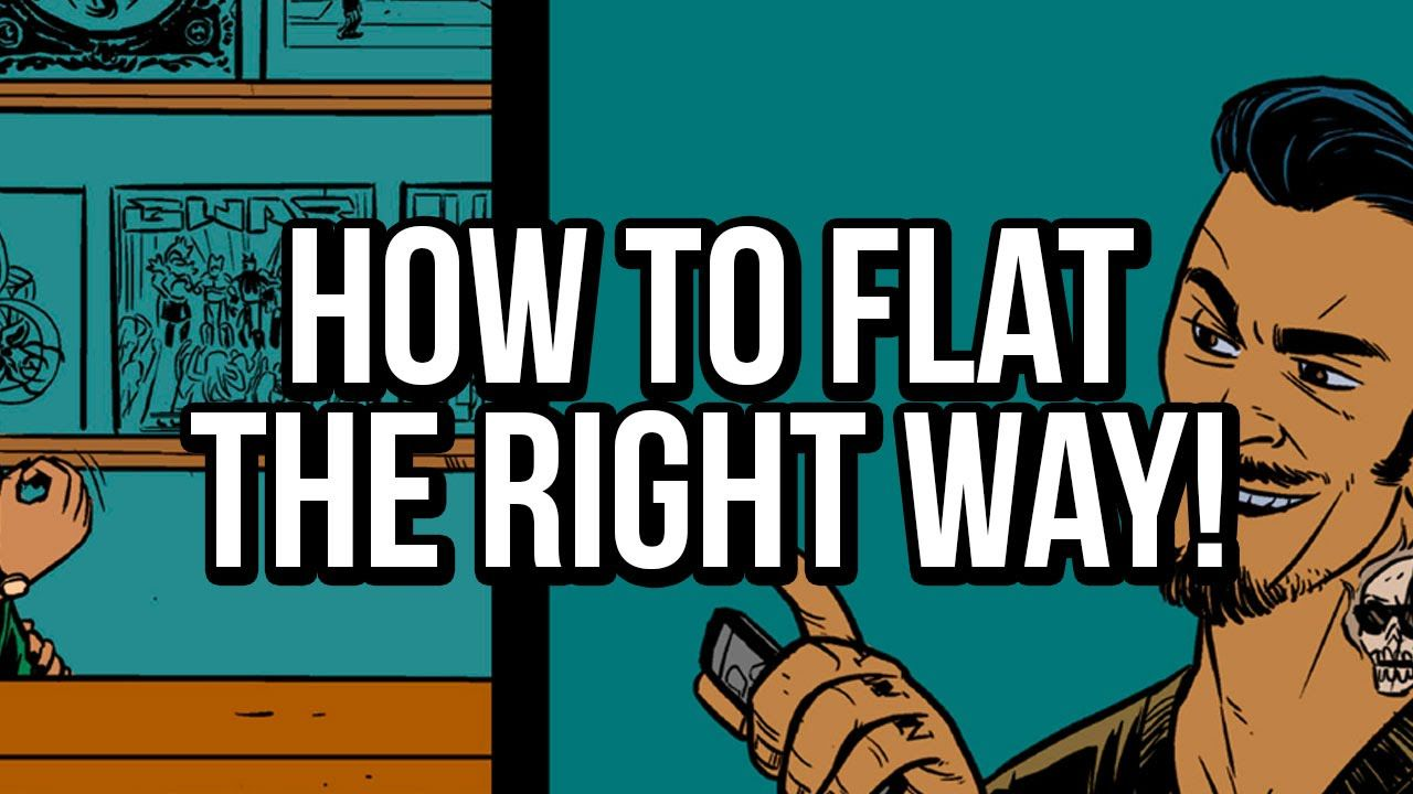 How to flat comics properly a flatting tutorial for photoshop how to flat comics properly a flatting tutorial for photoshop used in digital comic book coloring baditri Gallery