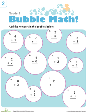 Bubble Math   Math, Math worksheets and Addition worksheets