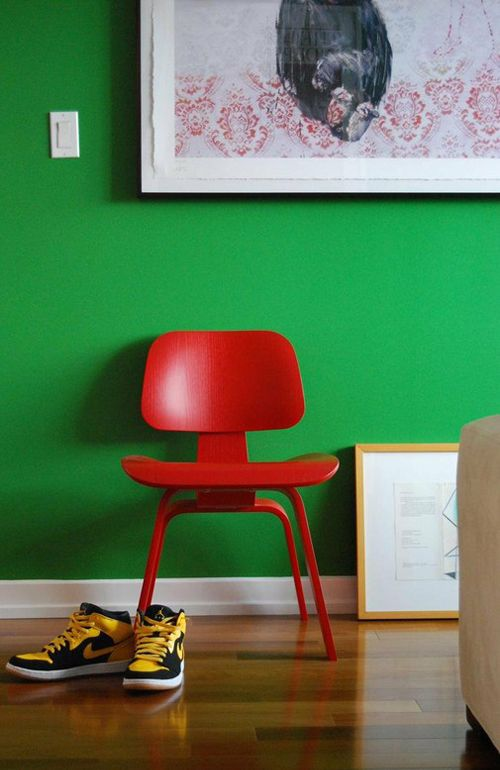Inspirações Por Kika Reichert Green Wall Color Walls Rooms Bad