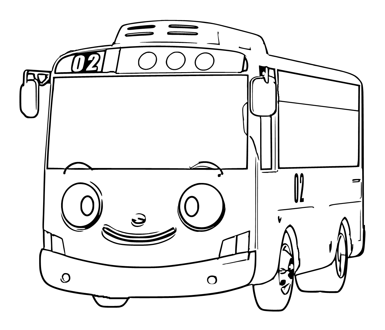 Mewarnai Gambar Bus Lani