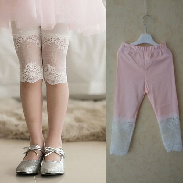 Cheap legging sets for women, Buy Quality trouser braces directly from China trouser rack Suppliers: Baby Girl Pants Toddler Cotton Patchwork Lace Leggings Summer Girls High E
