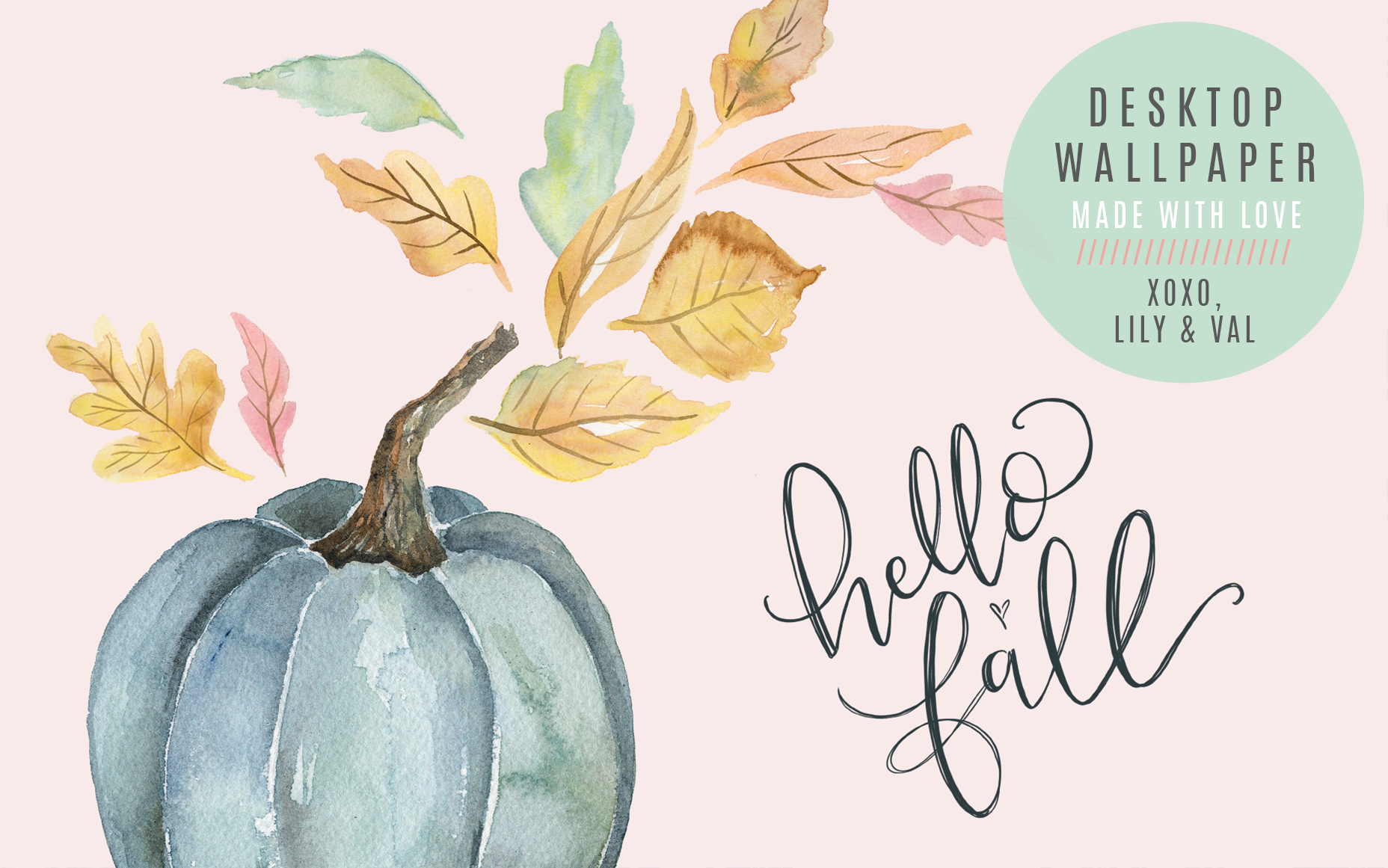 September S Hello Fall Free Desktop Wallpaper Download Lily Val Living Desktop Wallpaper Fall Watercolor Desktop Wallpaper Fall Desktop Backgrounds