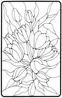 Vitral De Flores Pintura Para Vidro Desenho Vitral E Flores De
