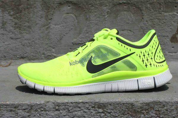 Nike Free Run+ 3 Volt lime green | Nike free shoes, Nike