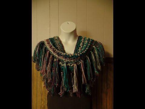 CROCHET How to #Crochet Fringe Infinity Scarf Harriet Lace Stitch #TUTORIAL #261 LEARN CROCHET - YouTube