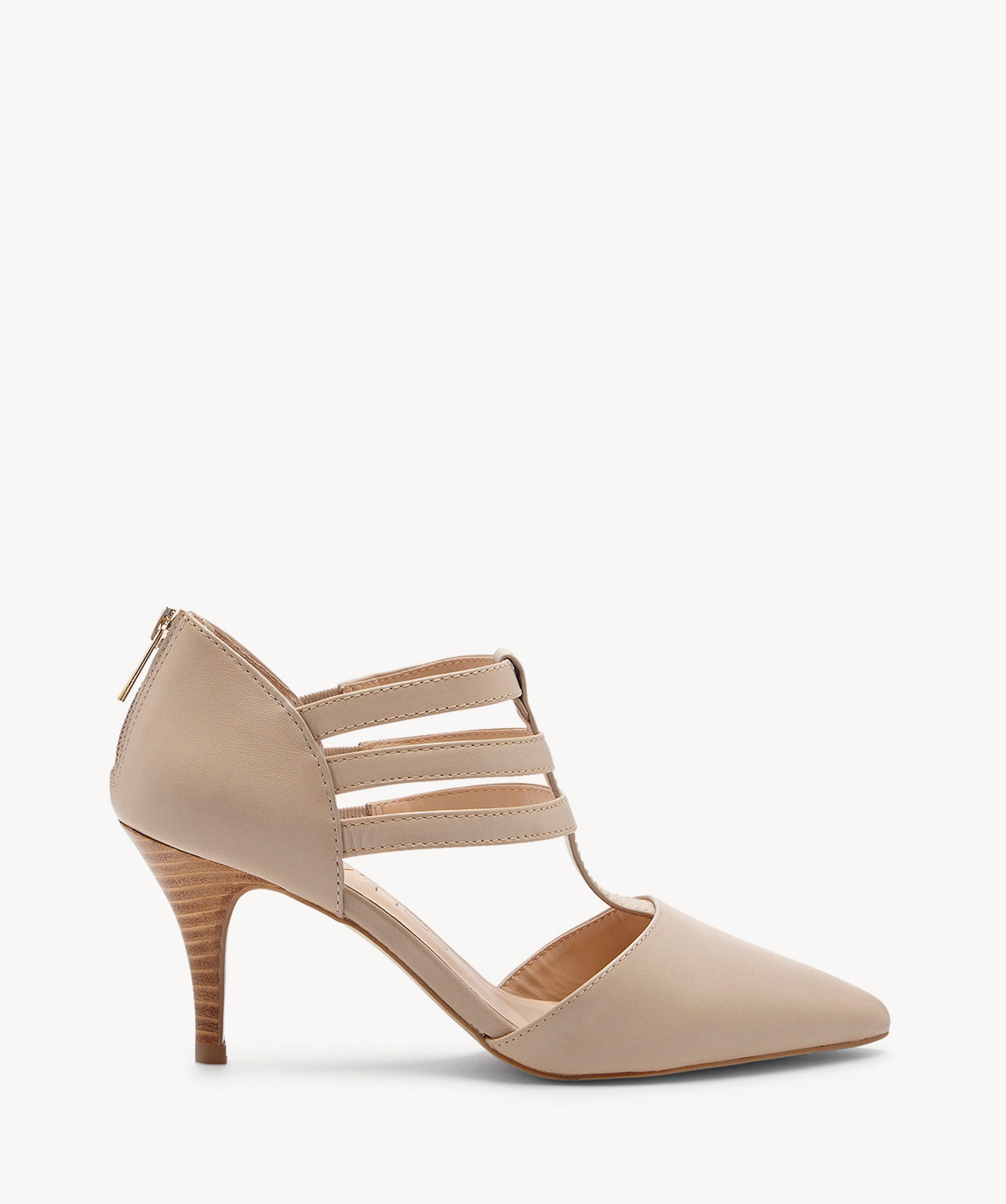 185cfe6af6e Sole Society Mallory T Strap Heels French Taupe