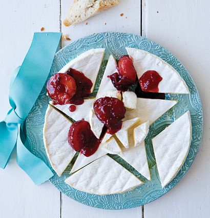 Grande Brie Cheese With Plum And Pink Peppercorn Compote Woolworths Taste Recipe Christmas Cooking Brie Cheese Christmas Food