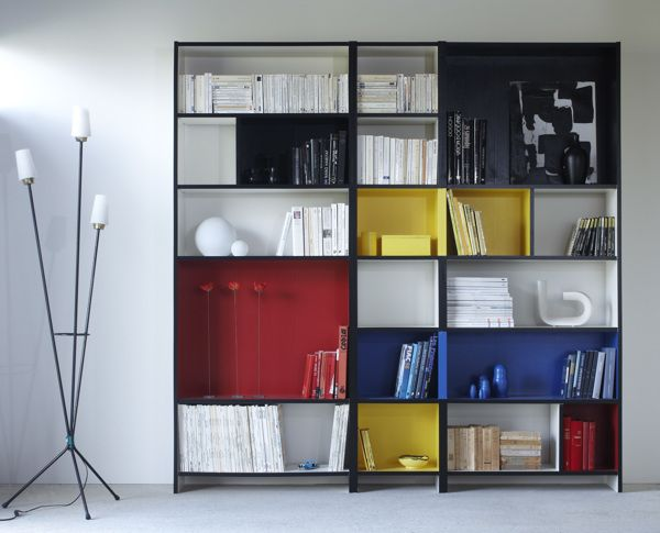 Mondrian Arredamento ~ Mondrian bookcase our first home mondrian shelves