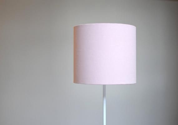 Pale Pink Lampshade Light Home, Pink And White Lamp Shades