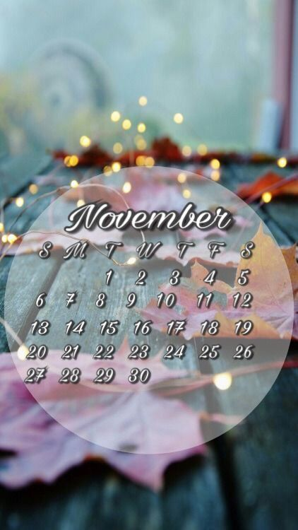 November Calendar Wallpaper For Iphone : November calendar wallpaper for iphone or android