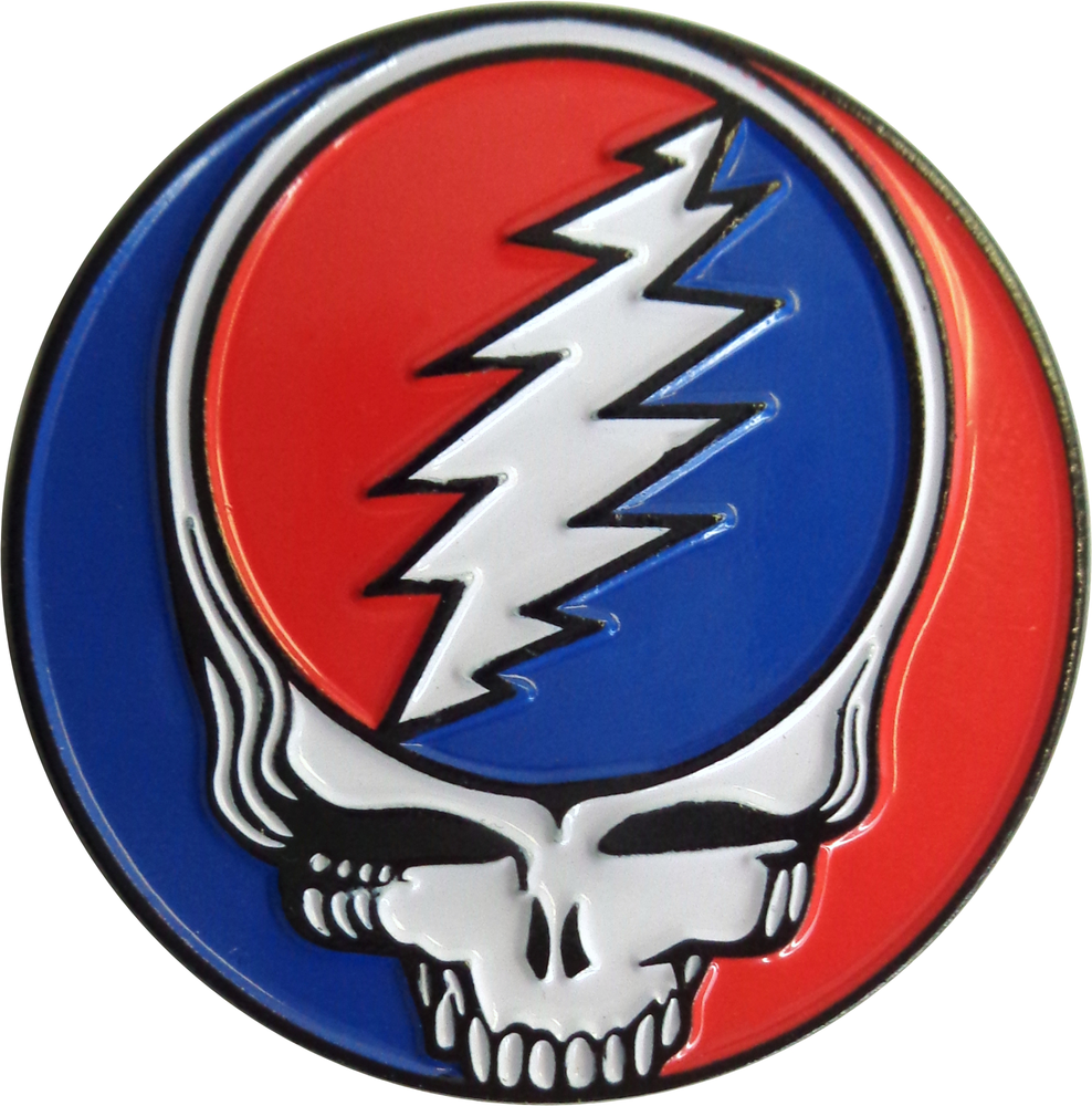 Grateful Dead Steal Your Face Round Enamel Pin 1 25 X 1 25 5 98 1 Enp 3965 Grateful Dead Enamel Lapel Pin Lapel