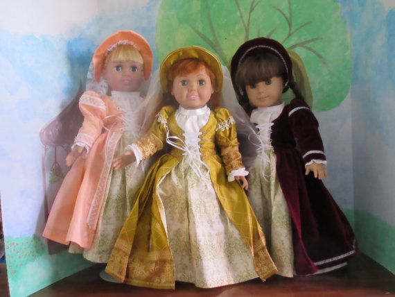 Renaissance costume for an 18 inch (American Girl sized) doll ...