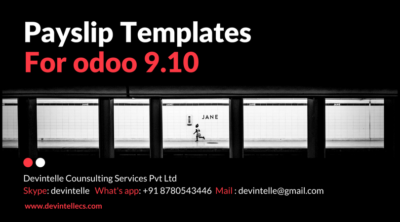 Odoo Multiple payslips Templates Print Multiple Payslip