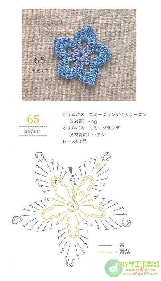 Pin de ivanna maretto en flores   Pinterest   Flor, Ganchillo y Tejido