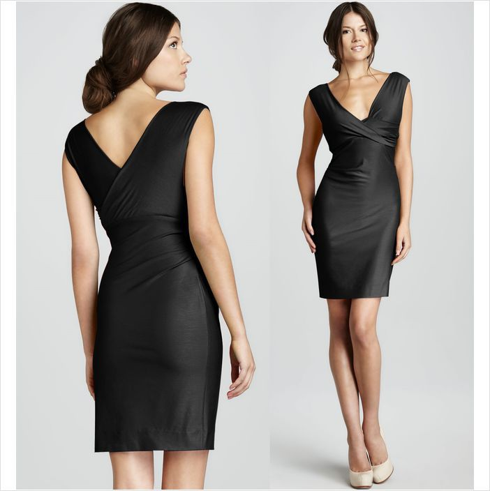 653fc1f35 Diane Von Furstenberg DVF Parker Black Jersey Sleeveless Dress $285 S on  eBid Canada