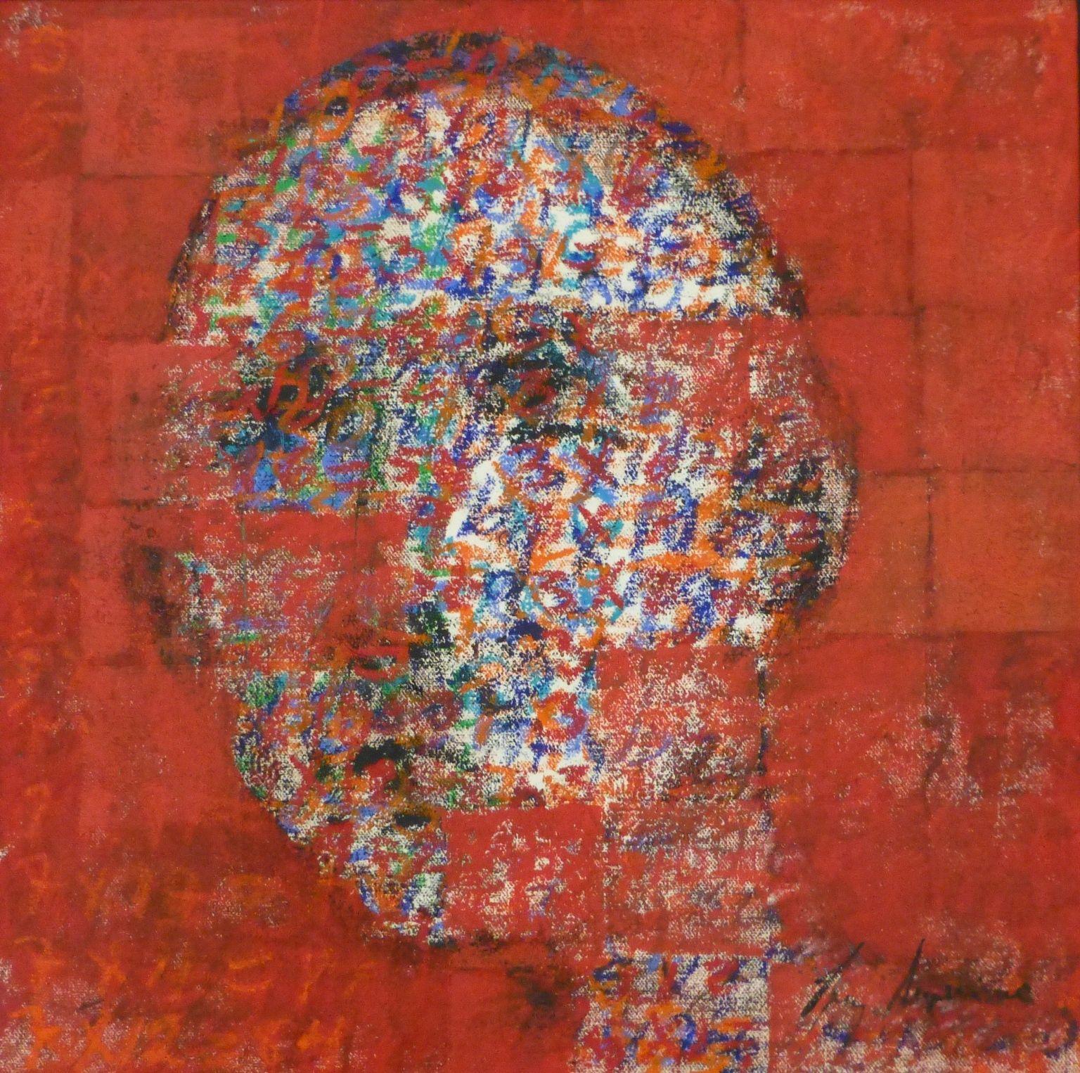 Luz Severino  Peinture Sans Titre    Pays / Country : République Dominicaine.  Dimensions : 50 cm x 50 cm,  Technique : huile sur toile – oil on canvas.  Year / Année : 2012. #canvas #severino #luzseverino #dominican #art #uprising #contemporary