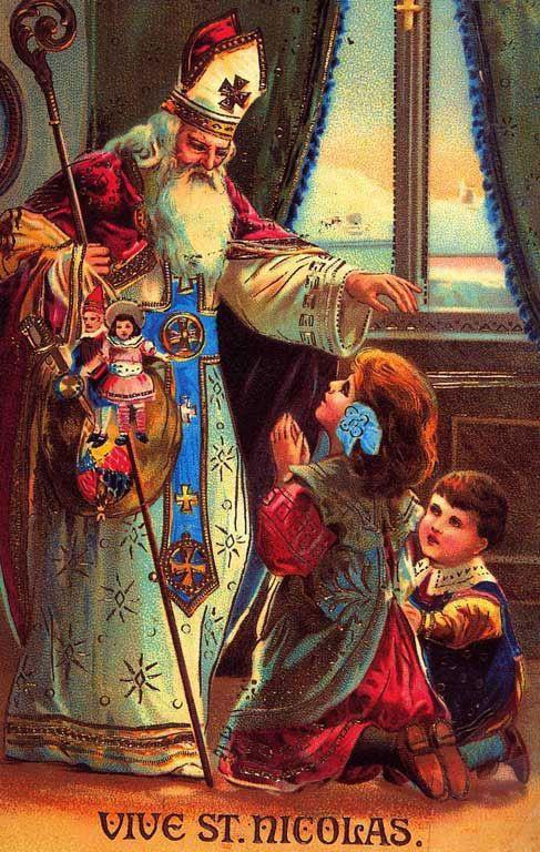 Saint Nicolas Carte Vintage Cartes Anciennes Saint Nicolas