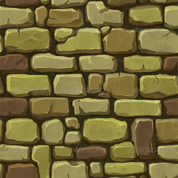 Stone Wall Texture Garden Inspirations Hand Painted