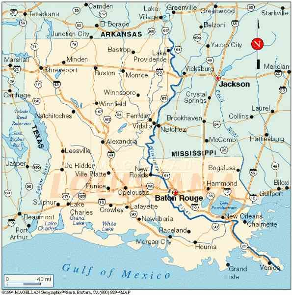 United States Map New Orleans.Cool Map Of State Of Louisiana Holidaymapq Louisiana