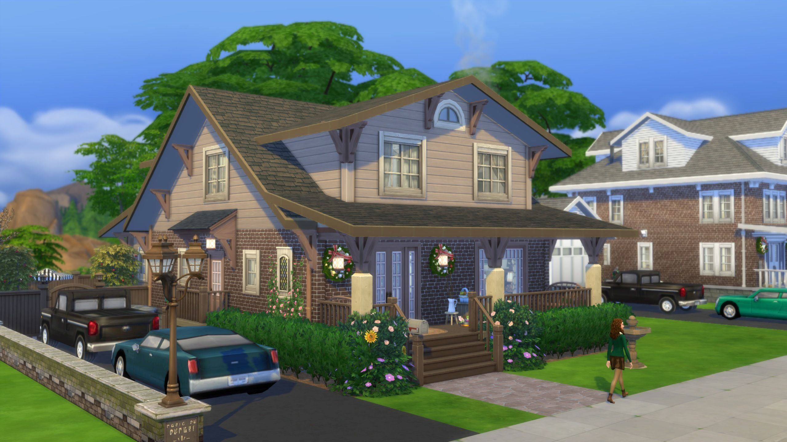 Mod The Sims The Grand Craftsman No Cc Sims Sims 4 Houses