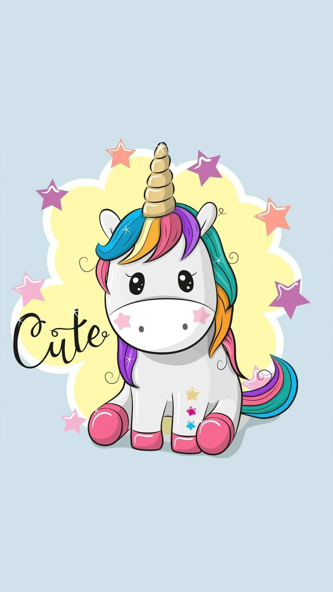 Cute Cartoon Unicorn Wallpapers Top Free Cute Cartoon For The Most