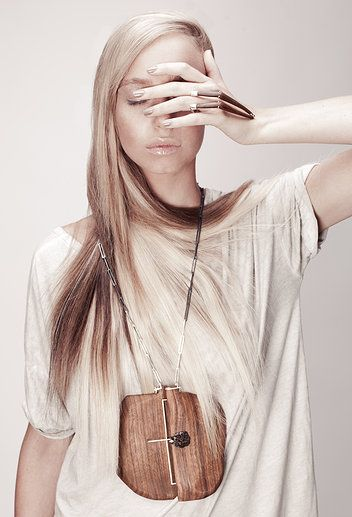 by Elina Gleizer: wood and silver ring, necklace: silver, yellow topaz photographer: Marina Moshkovich Chris