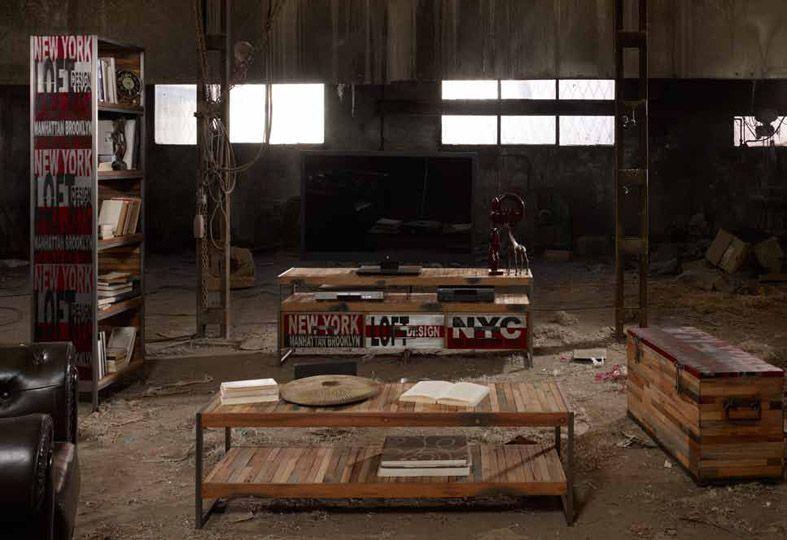mesas de tv de diseo industrial modelo urban factory decoracin beltran tu tienda online