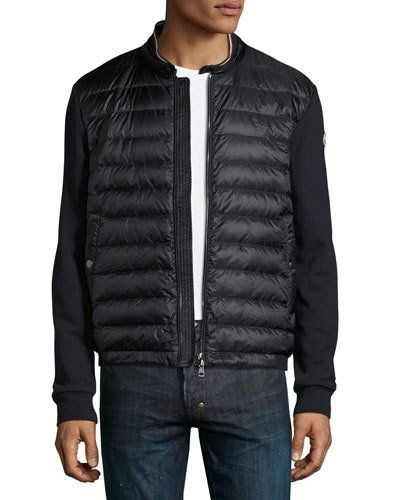 moncler quilted sweat jacket