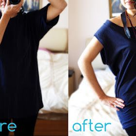 Wardrobe Recycle: T-Shirt Refashion on a Sunday Afternoon