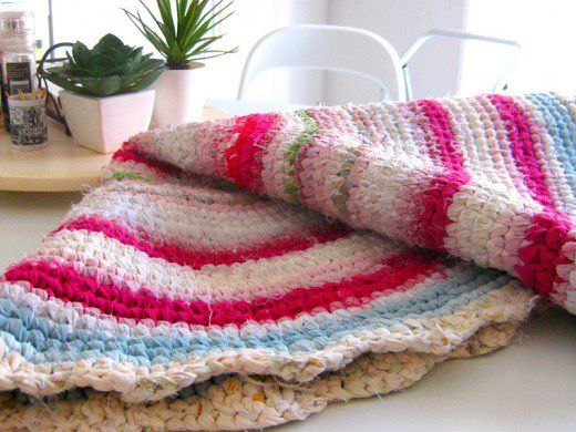 Another Rag Rug I Have Made With A Larger Fabric Width And A Larger