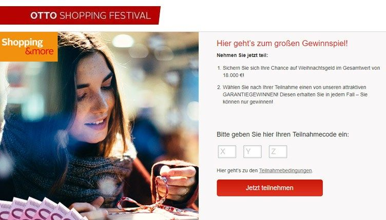 Otto Festival Gewinnspiel