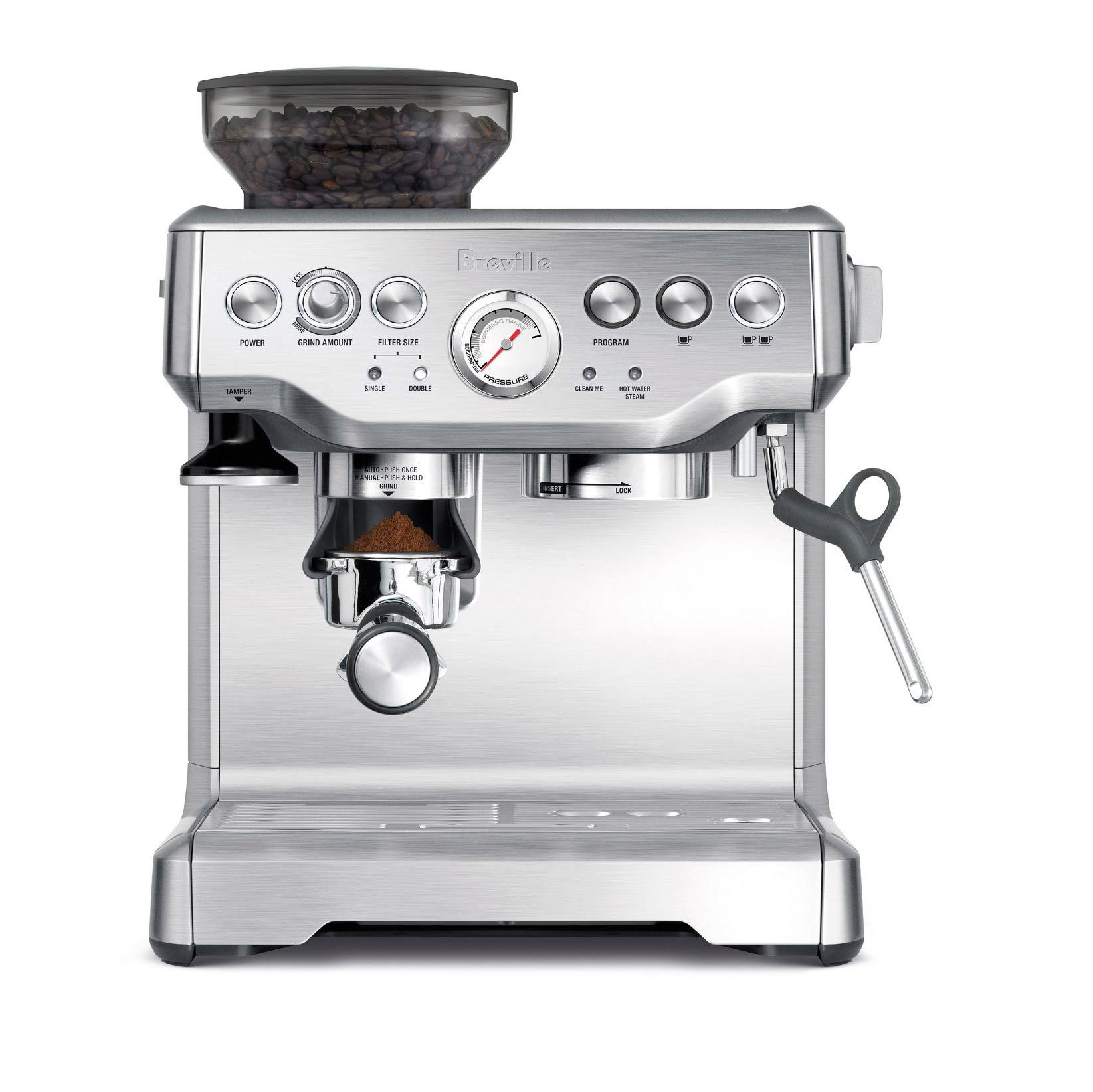 Breville Bes870xl Barista Express Espresso Machine Find Out Where To Buy It By Clic Best Home Espresso Machine Breville Espresso Machine Home Espresso Machine