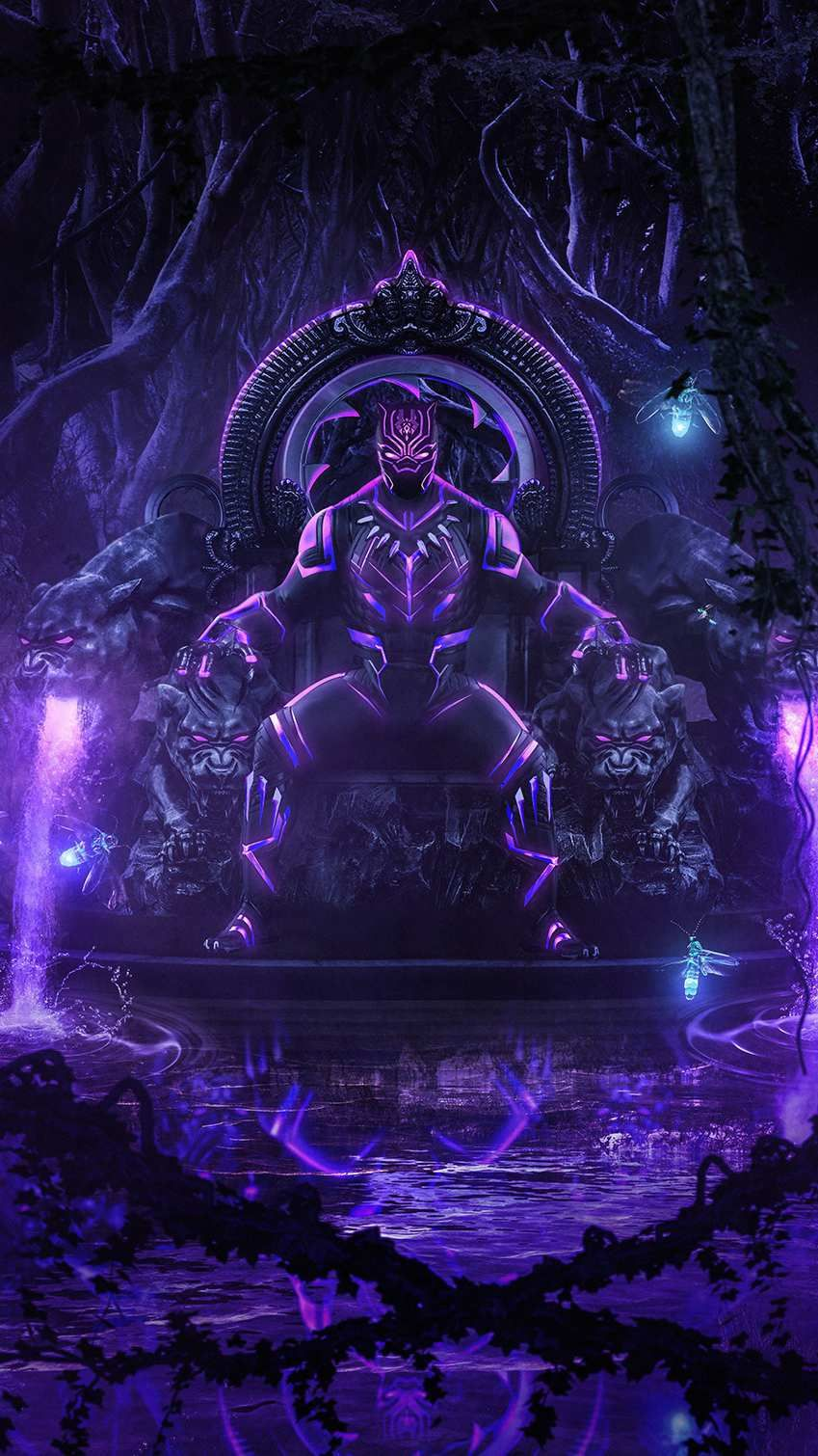 Black Panther Iphone Wallpaper King