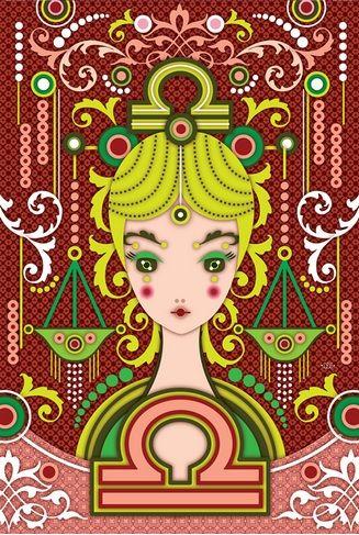 LIBRA - Zune Originals | Zodiac Illustration By: Catalina Estrada