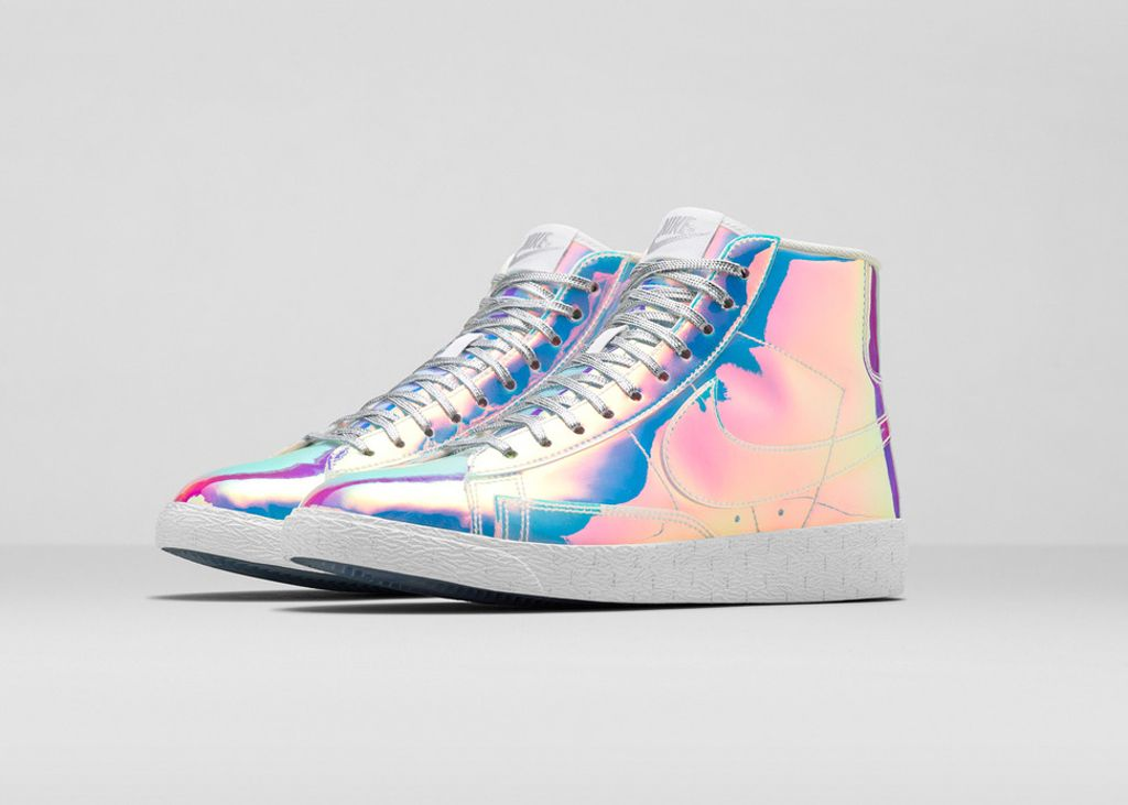 promo code save up to 80% best cheap Women's Nike Blazer Mid Iridescent in 2019 | Nike basketball ...