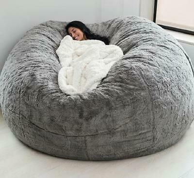 Details about Microsuede 7ft Foam Giant Bean Bag M