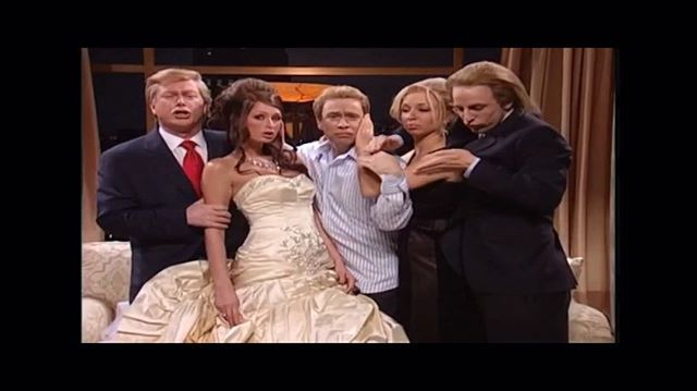 In honor of tonight's #Debate. Here's the time I hosted #SNL & played #DonaldTrump's wife.