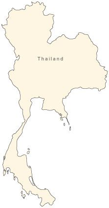 Thailand Map - Simple Outline - Map Resources   Map ...