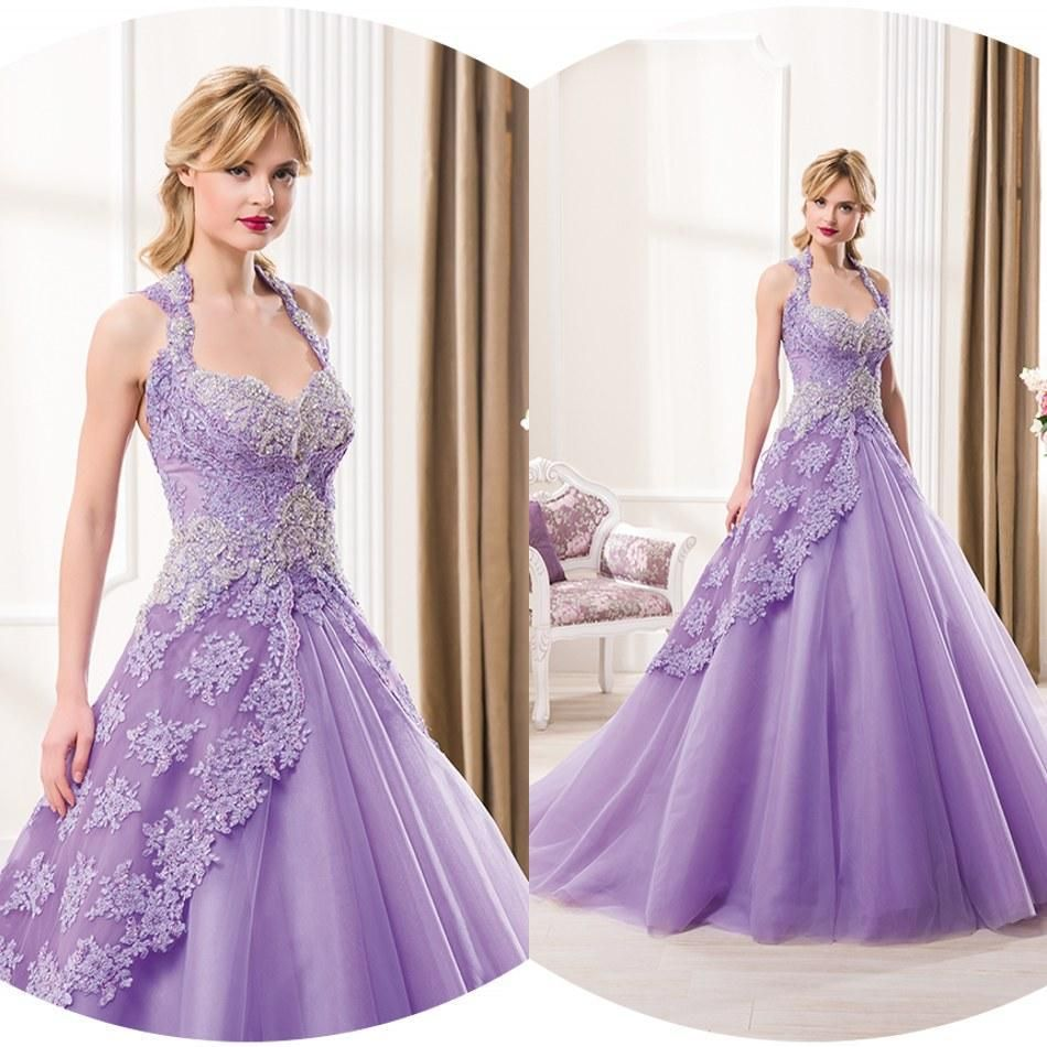 lavender wedding dresses | Colored Wedding