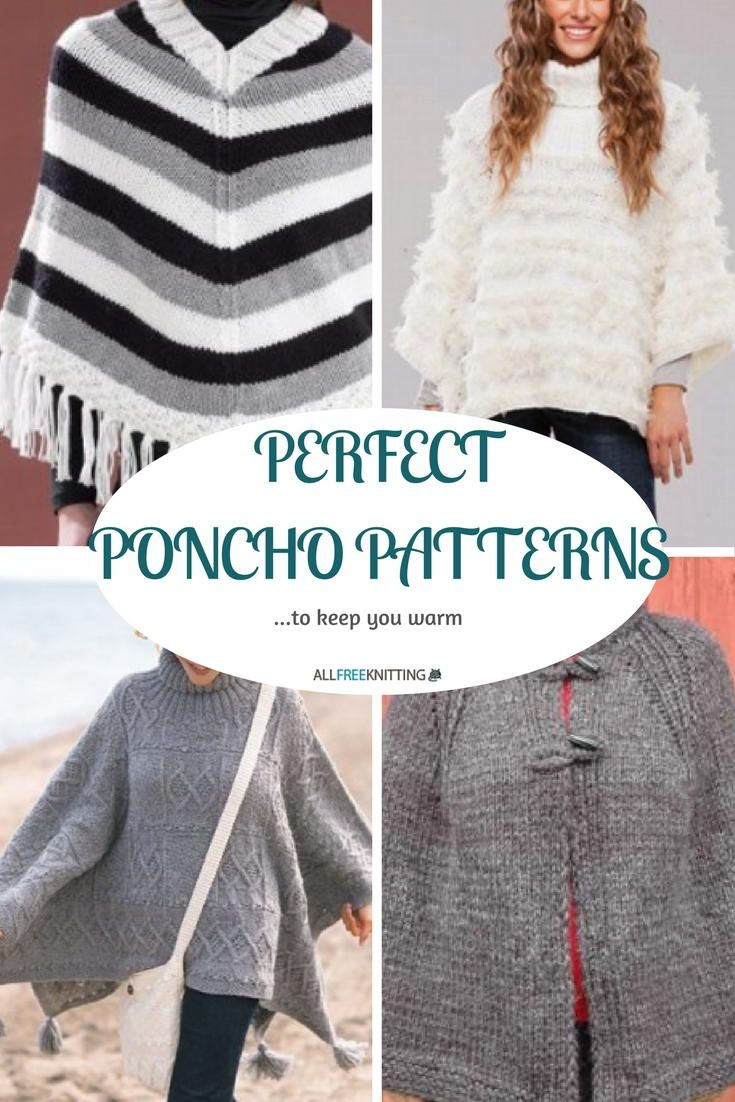 71054b39a Perfect Poncho Patterns: 20+ Free Knitting Patterns to Keep You Cozy |  AllFreeKnitting.com