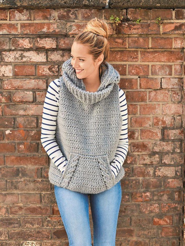 Der kuschelige Pullunder mit dem Wow-Faktor ist ein kleines Meisterstück mit Ku...  #rose #crochet #knitting #rosecrochet #roseknitting