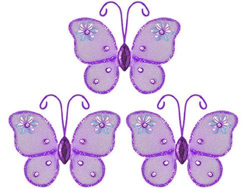 Hanging nylon butterfly craft nursery bedroom girls room ceiling hanging nylon butterfly craft nursery bedroom girls room ceiling wall decor wedding birthday party baby bridal shower decorations adelaide mini butterfly junglespirit Image collections