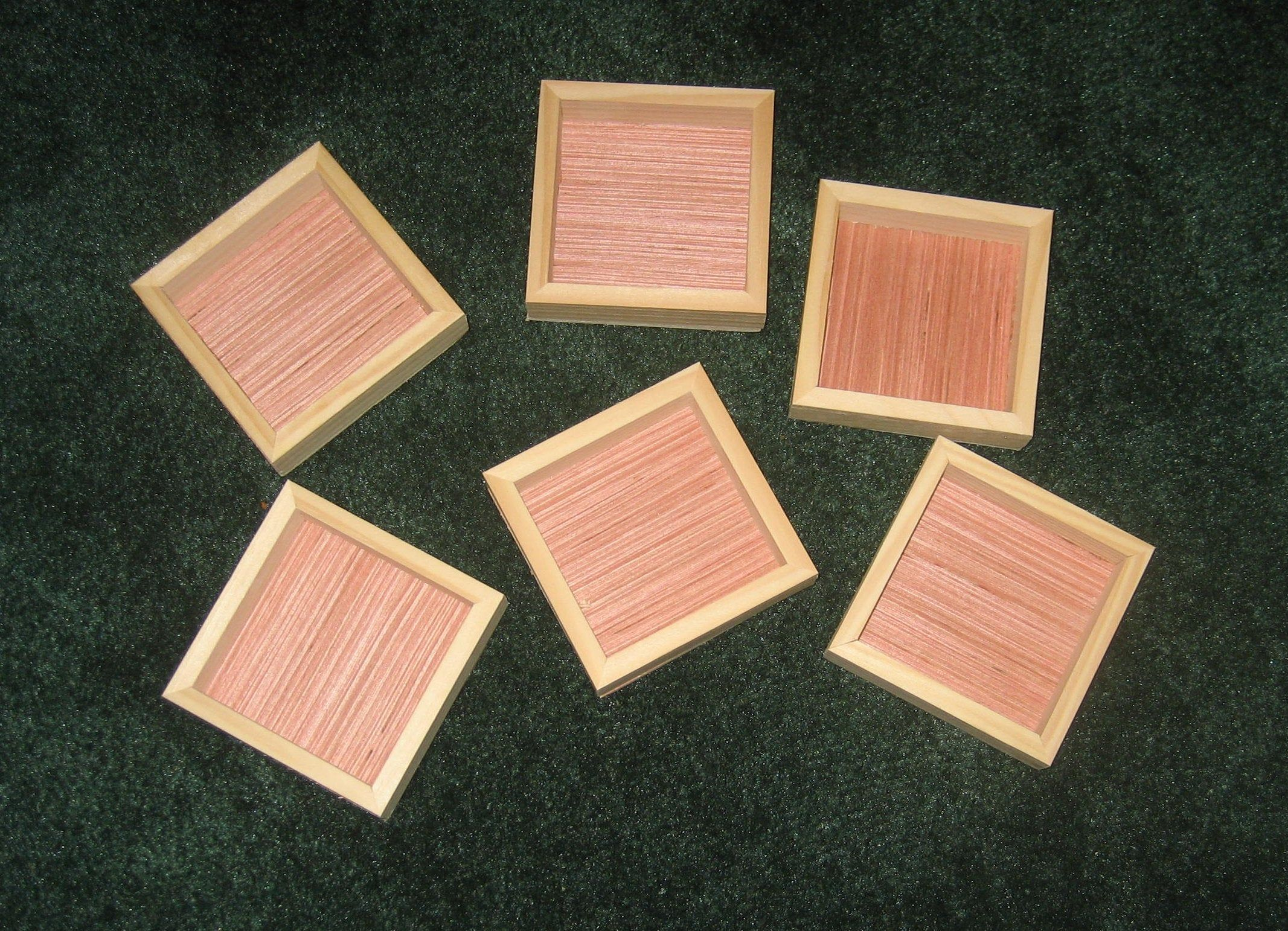 Mini 3x3 Boxes With Backs Unfinished Etsy Box Frames Picture On Wood Wood Picture Frames