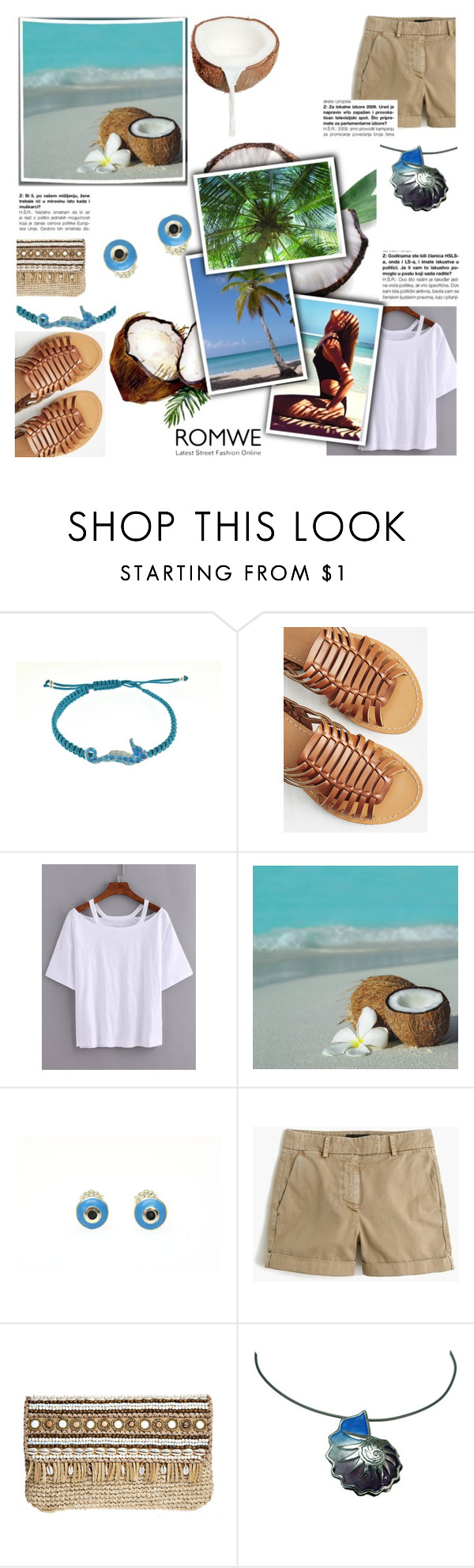 """Coconut"" by giampourasjewel ❤ liked on Polyvore featuring J.Crew, Skemo and romwe"