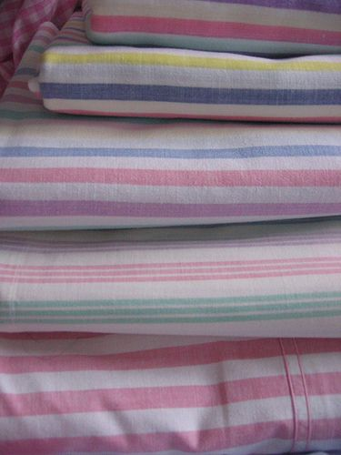 vintage candy striped sheets for some reason they remind me of being 5 years old - Striped Sheets