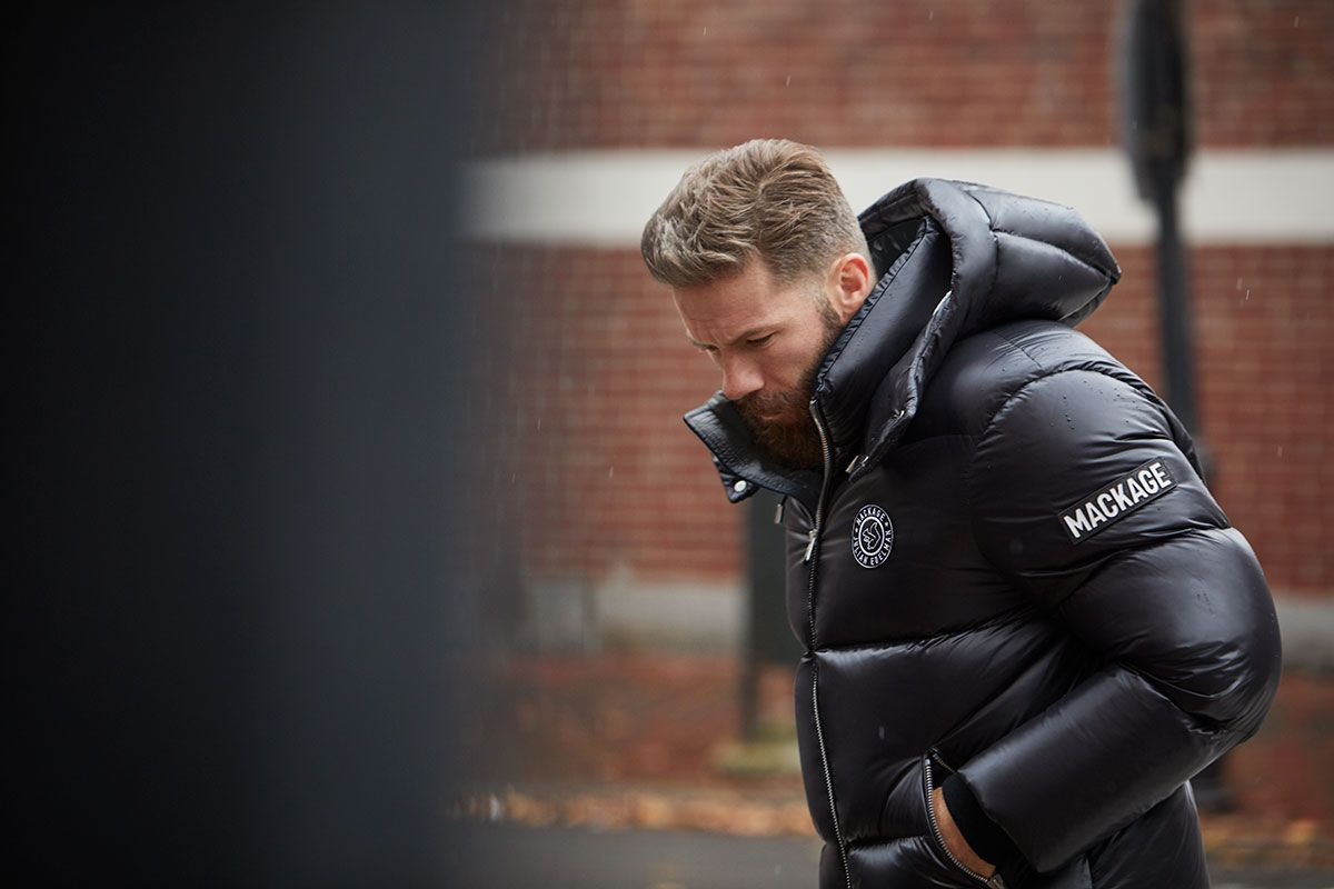 Mackage X Julian Edelman Make Super Bowl Worthy Outerwear In 2020 Julian Edelman Mackage Patriots Julian Edelman