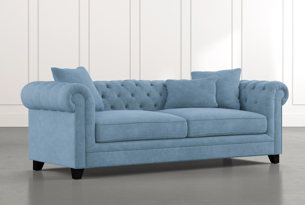 Patterson Iii Light Blue Sofa In 2020 Light Blue Sofa Light Blue Couches Blue Sofas Living Room