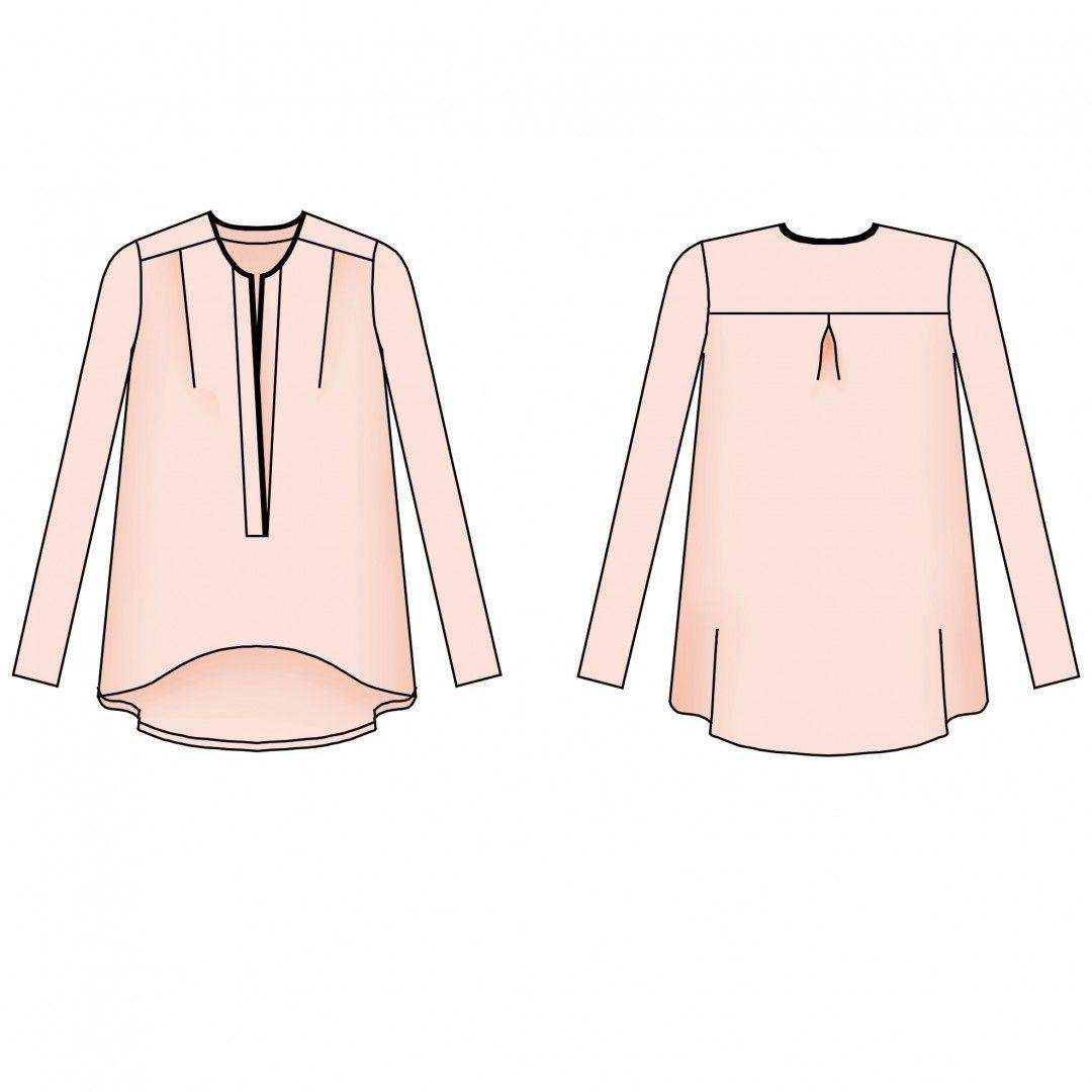 Panier - Blousette Rose | couture | Pinterest | Für damen, Hemden ...